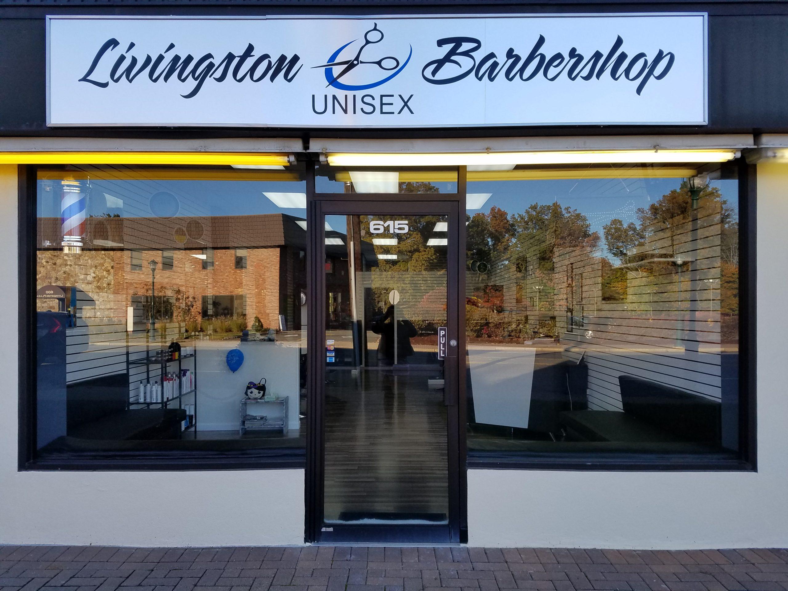 Our storefront at Livingston Barbershop